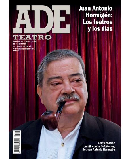 Revista ADE nº 177. Octubre- Diciembre 2019. Texto teatral: Judith contra Holofernes, de Juan Antonio Hormigón