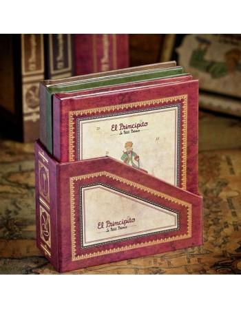 Set mini libretas con caja....