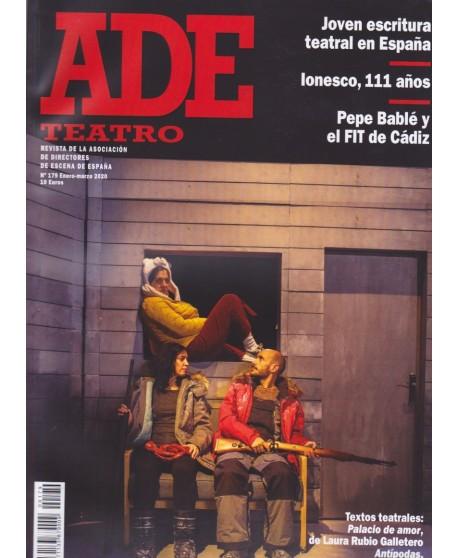 Revista ADE 179. Ene- Mar. 2020. Textos teatrales: Palacio de amor/ Antípodas