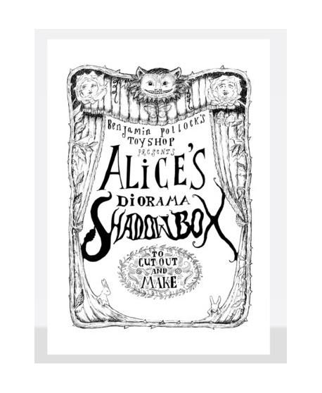 Caja de sombras Alicia en el país de las maravillas