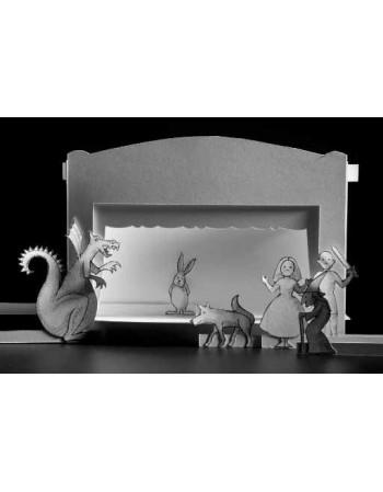 Teatro de papel. (Blanco)